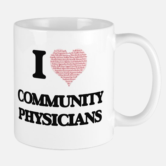 I love Community Physicians (Heart made from Mugs