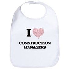 I love Construction Managers (Heart made from Bib
