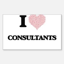 I love Consultants (Heart made from words) Decal