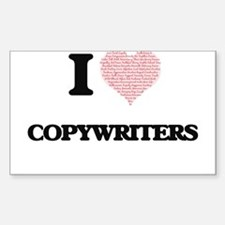 I love Copywriters (Heart made from words) Decal
