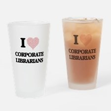 I love Corporate Librarians (Heart Drinking Glass