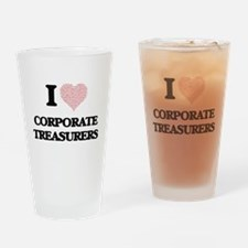 I love Corporate Treasurers (Heart Drinking Glass