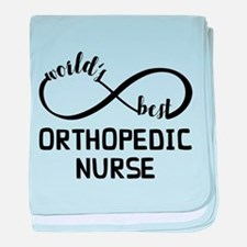 World's Best Orthopedic Nurse baby blanket
