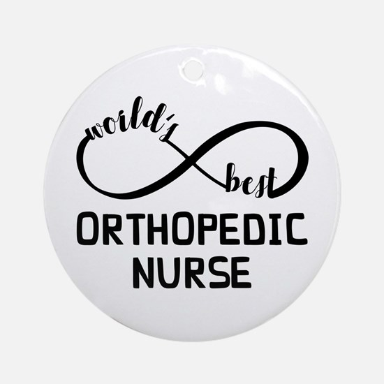 World's Best Orthopedic Nurse Round Ornament