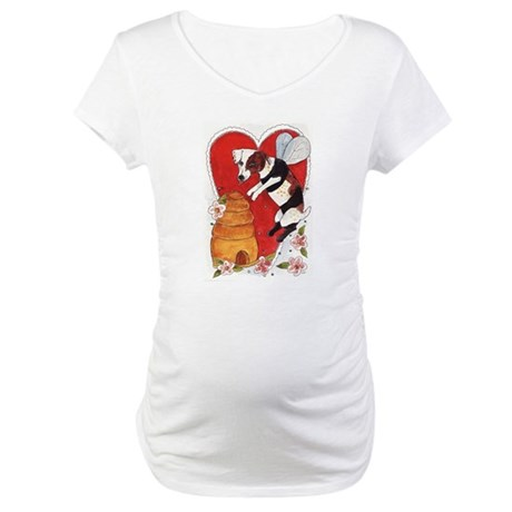 Jack Russell Terrier Bee-Dog Maternity T-Shirt