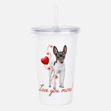 Love You More! Terrier Acrylic Double-wall Tumbler