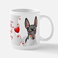 Love You More! Terrier Mugs
