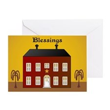 Folk Art Home Greeting Card