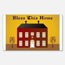 Folk Art Home Rectangle Decal