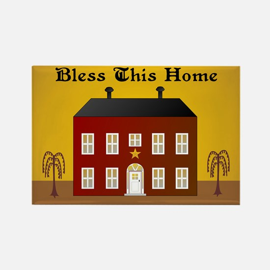 Folk Art Home Rectangle Magnet