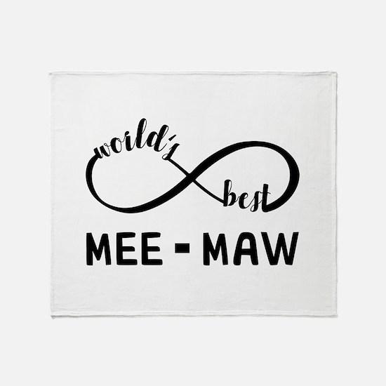 World's Best Meemaw Throw Blanket