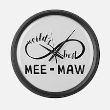World's Best Meemaw Large Wall Clock