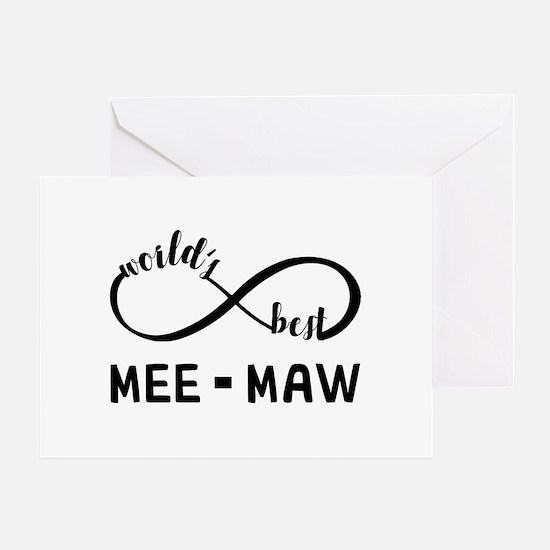 World's Best Meemaw Greeting Card