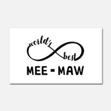 World's Best Meemaw Car Magnet 20 x 12