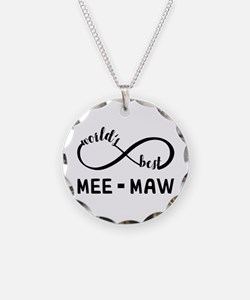 World's Best Meemaw Necklace Circle Charm