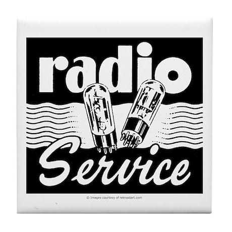 Radio Service Tile Coaster