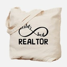 Infinity Gift For World's Best Realtor Tote Bag