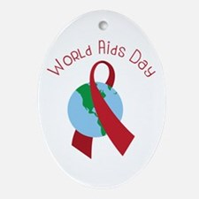 World AIDS Day Oval Ornament