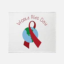 World AIDS Day Throw Blanket