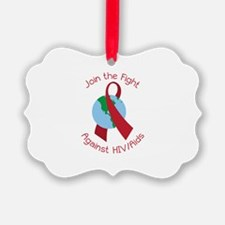 Fight Against HIV/AIDs Ornament