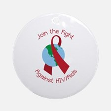 Fight Against HIV/AIDs Round Ornament
