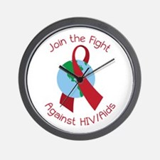 Fight Against HIV/AIDs Wall Clock
