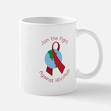 Fight Against HIV/AIDs Mugs