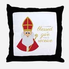 Blessed To Give Throw Pillow