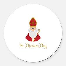 St Nicholas Day Round Car Magnet