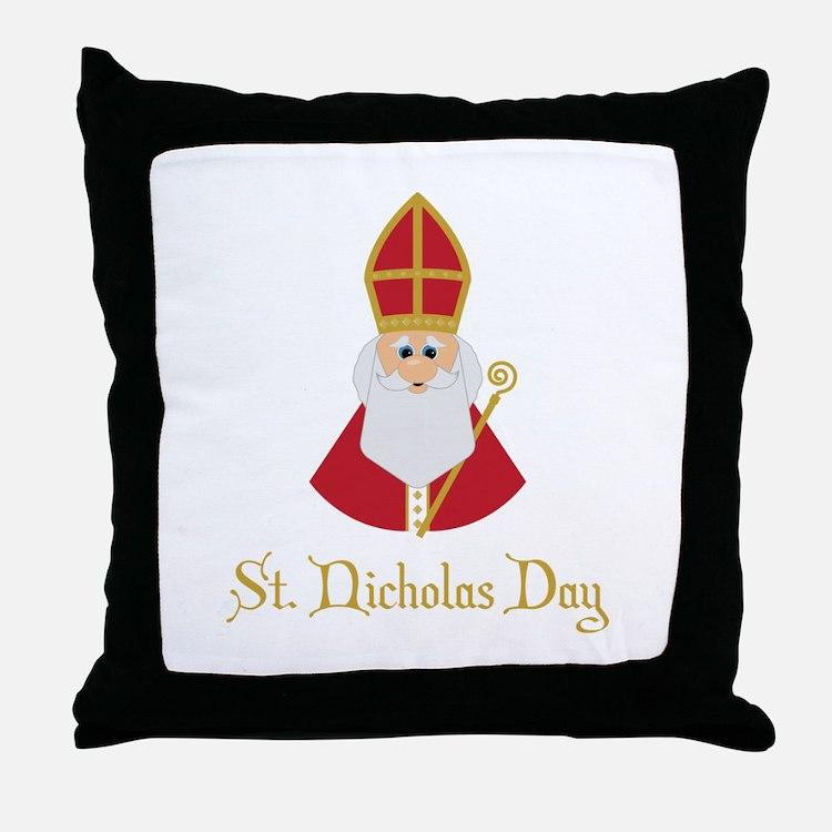 St Nicholas Day Throw Pillow