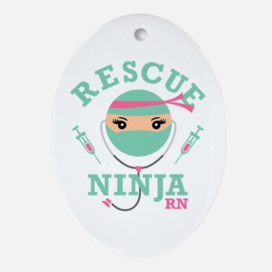 Rescue Ninja RN Oval Ornament