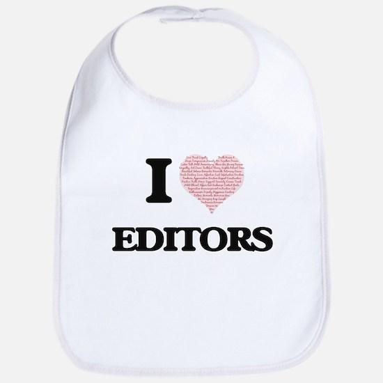 I love Editors (Heart made from words) Bib
