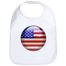 USA Flag Jewel Bib