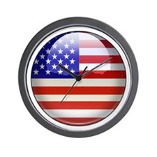 USA Flag Jewel Wall Clock