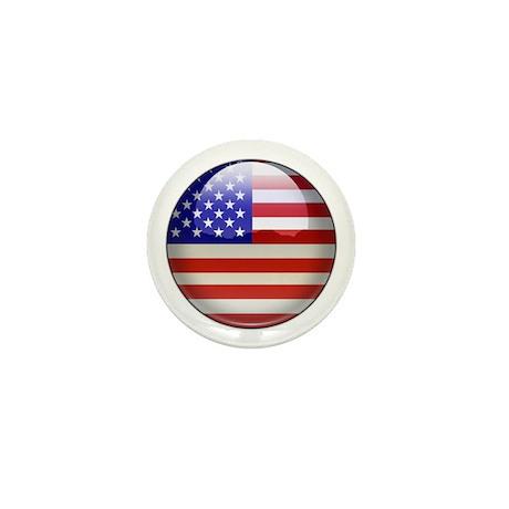 USA Flag Jewel Mini Button (10 pack)