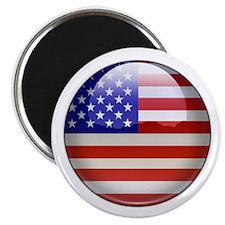 "USA Flag Jewel 2.25"" Magnet (10 pack)"