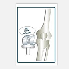 Funny Knee surgery Postcards (Package of 8)
