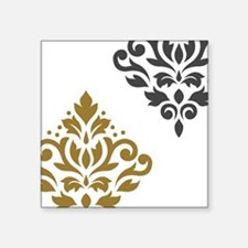 Scroll Damask Art I GGW Sticker