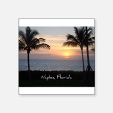 "Cute Naples florida Square Sticker 3"" x 3"""