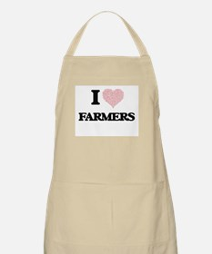 I love Farmers (Heart made from words) Apron