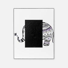 Cute Black & Purple Floral Elephant Picture Frame