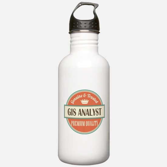 gis analyst vintage lo Water Bottle