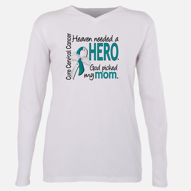 Cute Cervical cancer Plus Size Long Sleeve Tee
