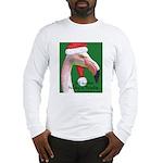 Flamingo Santa Claus Long Sleeve T-Shirt