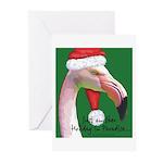 Flamingo Santa Claus Greeting Cards (Pk of 10)