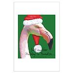 Flamingo Santa Claus Large Poster
