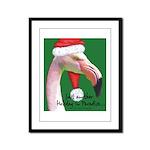 Flamingo Santa Claus Framed Panel Print