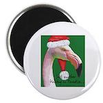 Flamingo Santa Claus Magnet
