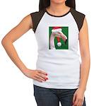 Flamingo Santa Claus Women's Cap Sleeve T-Shirt