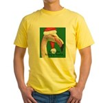 Flamingo Santa Claus Yellow T-Shirt
